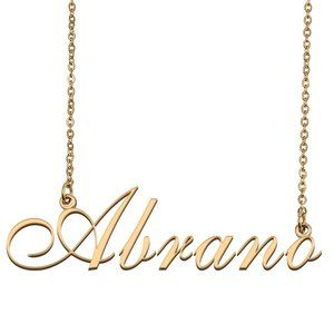 Custom Personalized Abrano Name Necklace